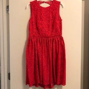 Kate Spade New York Geranium Lace Dress EUC